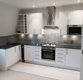 Open plan kitchen in Parsons Green