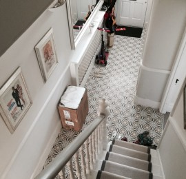 Entrance heritage tiling in Balham
