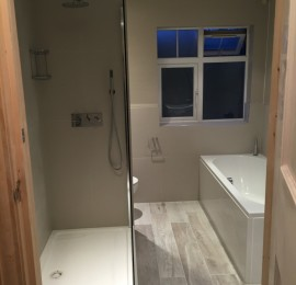 Complete bathroom build in Chiswick